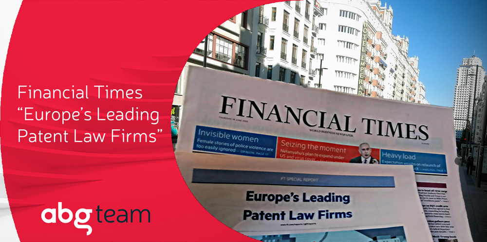 Financial Times ranks ABG IP in the top 10 of Europe's Leading Patent Law Firms