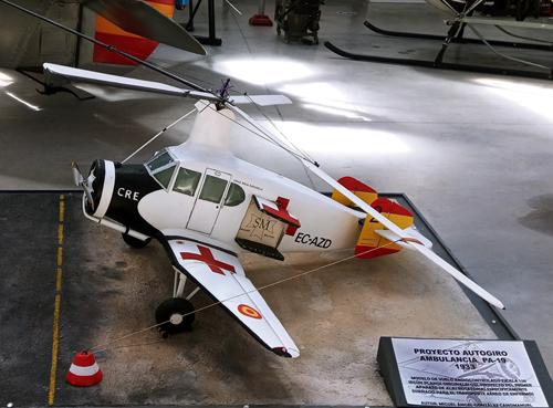 Patente Autogiro Cierva Ambulancia