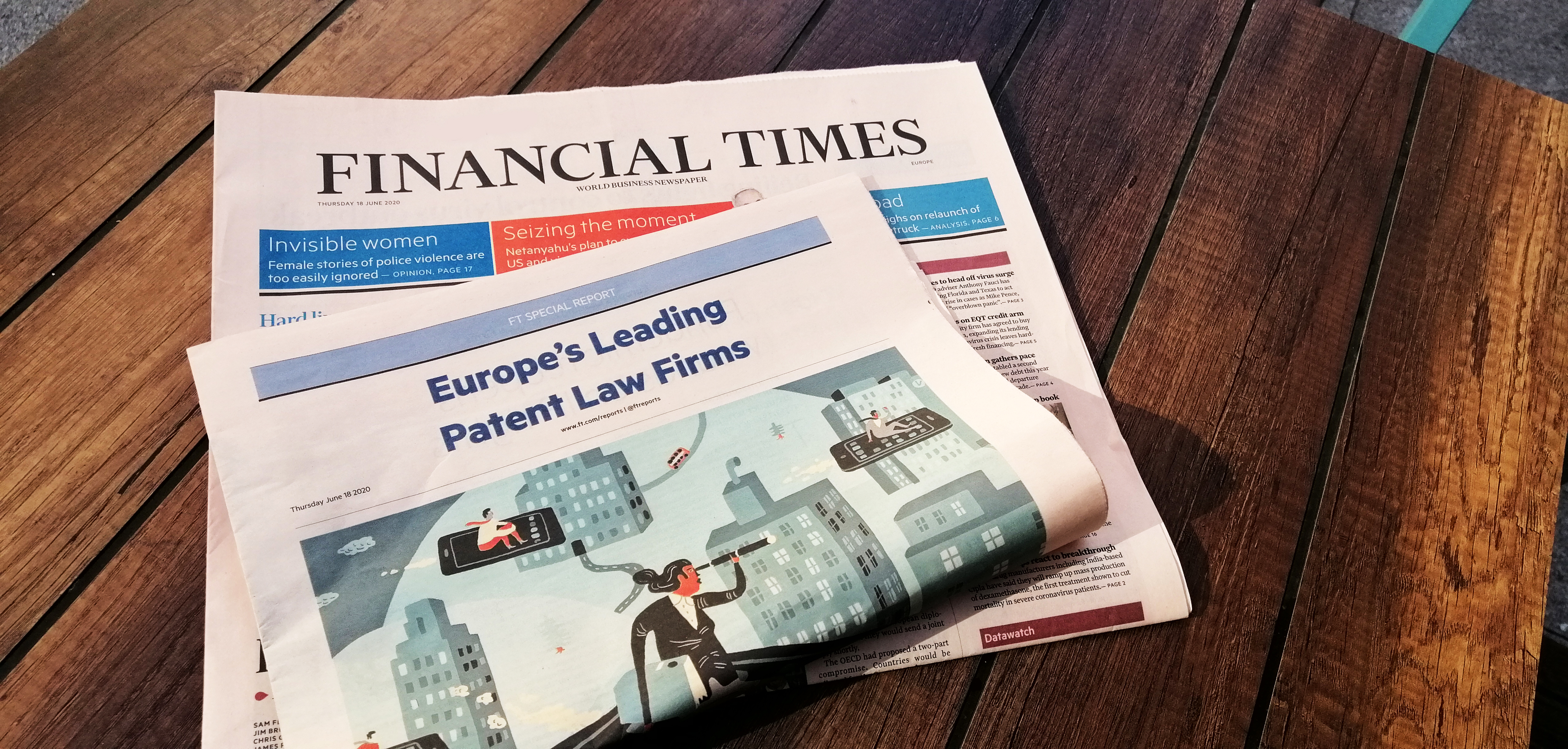 "2019 - Financial Times menciona a ABG Intellectual Property al seu article ""Europe's Leading Patent Law Firms 2019"""