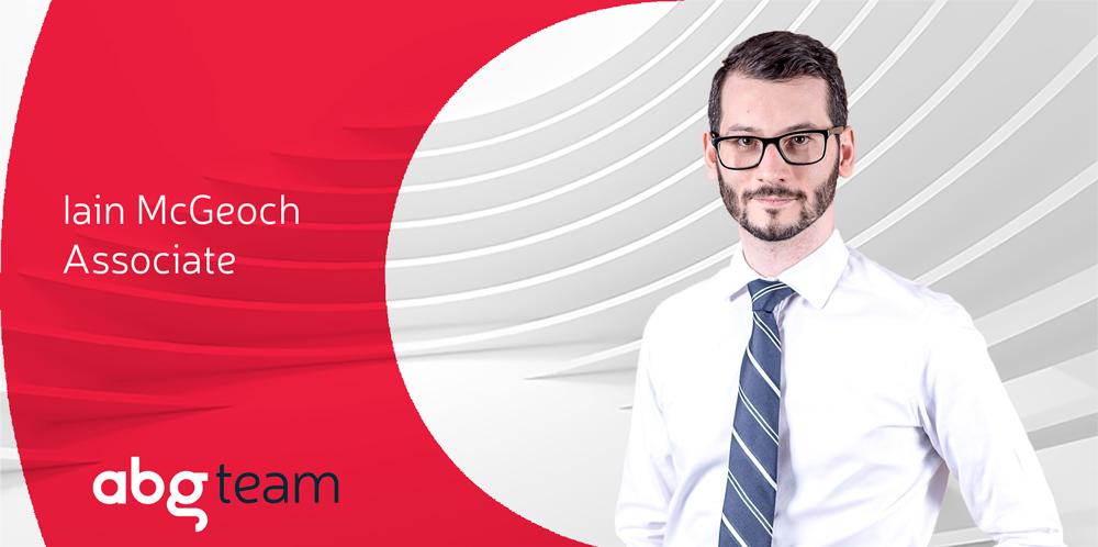Iain McGeoch, new associate at ABG