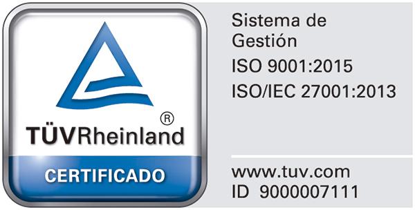 2020 - Obtenemos las certificaciones del estándar de Sistemas de Gestión de la Calidad ISO 9001 y de Gestión de Seguridad de la Información ISO 27001