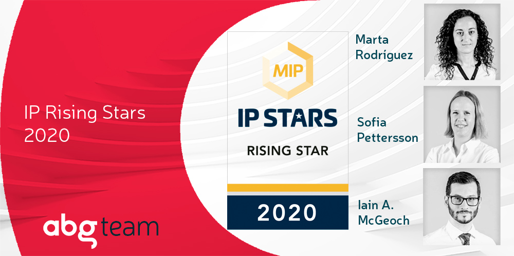 Managing IP recognises the ABG IP team and includes 3 Rising Stars in its rankings