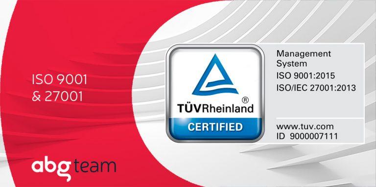 Els Sistemes de Gestió de Qualitat i de Seguretat de la Informació d'ABG reben les certificacions ISO 9001 i 27001