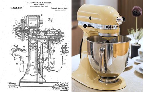 Patente Batidora Kitchen Aid Boceto Producto