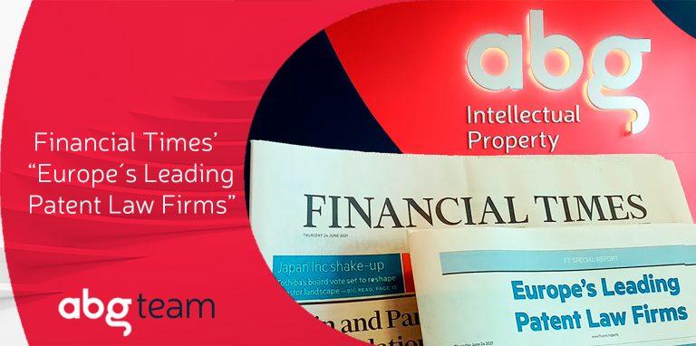ABG IP es consolida entre els 10 millors despatxos de patents d'Europa, segons Financial Times