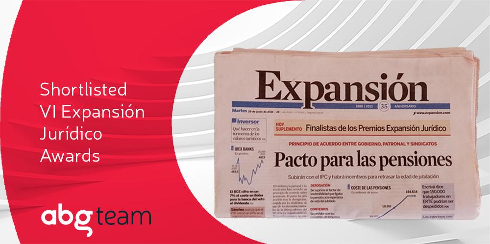 ABG IP, shortlisted for VI Expansión Jurídico Awards