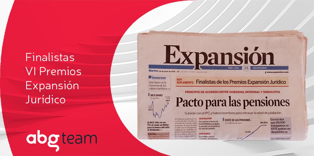 ABG IP, finalista en los VI Premios Expansión Jurídico