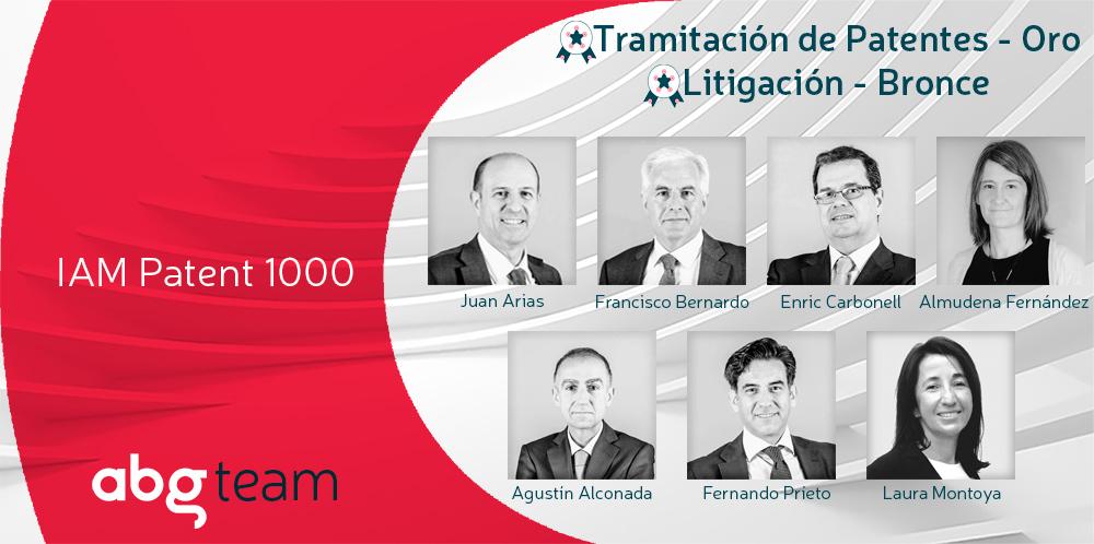 ABG IP repite el oro por noveno año consecutivo en el ranking IAM Patent 1000